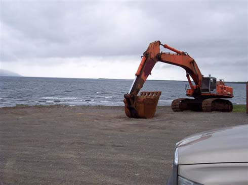 Hitachi 700 Staged for Loading off the Beach